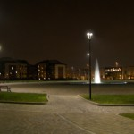 Vista camminamenti e piazza