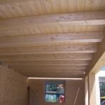 particolare di solaio in legno