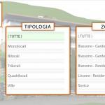 """Selezione della tipologia e della zona in """"le nostre proposte"""""""
